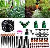 Aiglam 40M Bewässerungssystem, Micro Drip Bewässerung Kit Gartenbewässerung, Flower Bed, Terrasse Pflanzen- Automatische...