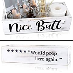 ♥【GREAT QUALITY, WELL MADE PRODUCTS YOU CAN TRUST】Our Lettering is hand painted-not cheap vinyl or stickers that will peel off with moisture. Our wooden boxes are 100% real solid natural wood material which eco-friendly and won't splinter or chip for...
