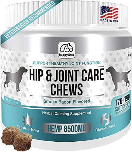 happyGree HIP & JOINT SUPPLEMENTS FOR DOGS: Product of USA- Natural Pain Relief...