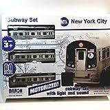 Daron 2019 MTA Train New York City Motorized Subway Train Set 39'X25' Track