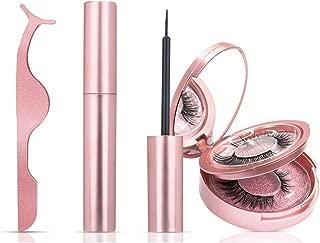 Magnetic Eyeliner, Jnuyisw 2 Pairs Falses Eyelashes Magnetic Kit,Magnetic Lashes of Reusable Natural 3D False Lash