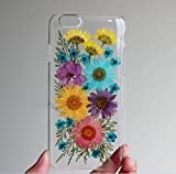 Coque pour Samsung Galaxy S7 Edge faite à la main - Véritable fleur pressée - Coque pour...