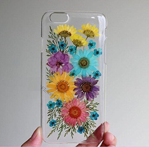 Carcasa personalizada para Samsung Galaxy S5, hecha a mano, diseño de flores prensadas