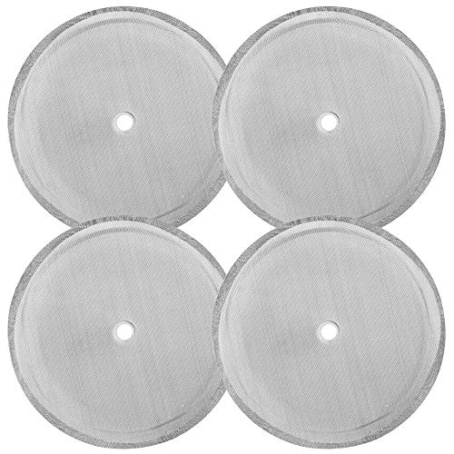 4 Pack French Press Replacement Filter Screen, findTop 4 Inch Stainless Steel Mesh Replacements for 1000 ml / 34 oz / 8 cup French Press