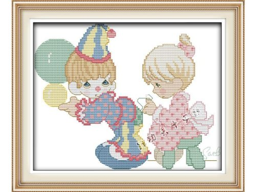 Happy Forever Cross Stitch,Cartoon characters, Water droplets doll 1