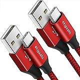 [3m/Lot de 2] etguuds Câble USB C Long, Ultra Résistant Nylon Cable Chargeur Type C, Charge Rapide...