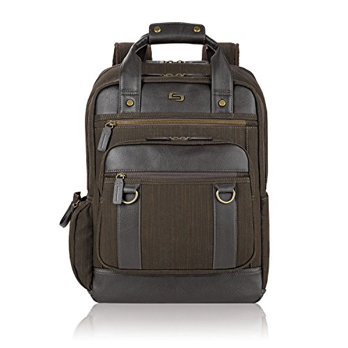 SOLO Executive Backpack with Padded Compartment for 15.6-Inch Laptop - Brown