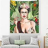 Frida Kahlo Und Blumenteppich, Die Rauchenden Frauen Mit