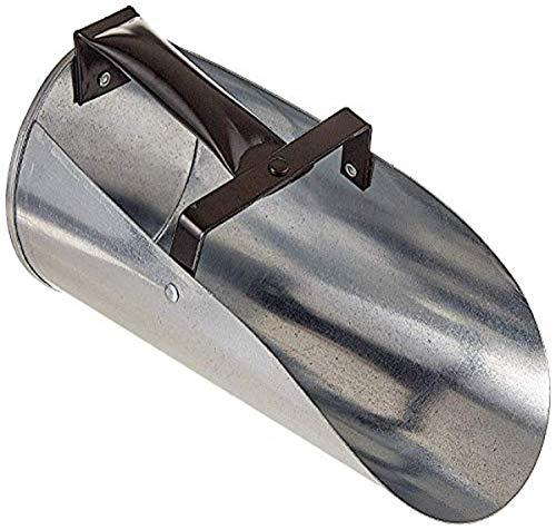 Farm Tuff Ir 2062 Metal Galvanized, 2-Quart Feed Scoop