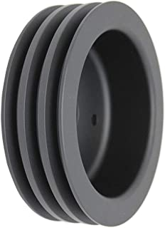 Pirate Mfg BBC Chevy 396-454 Black Aluminum Swp Triple Groove Crankshaft Pulley