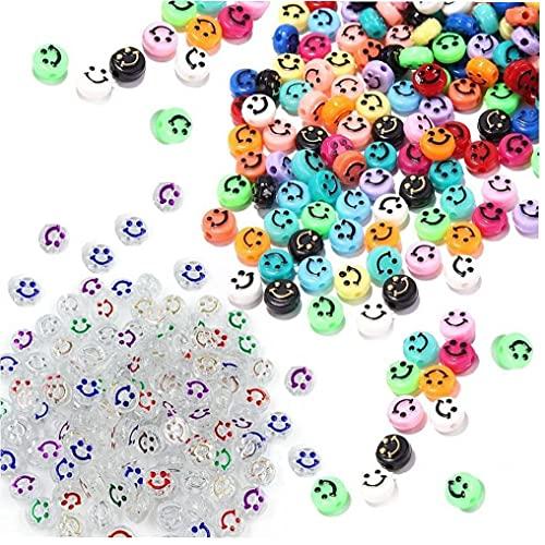 Onsinic 200 Unids Acrílico Acrílico Perlas Coloreado Polimer Arcilla Espaciador Perlas para Niñas Bricolaje Artesanía Joyería