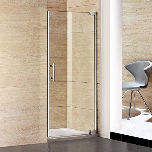 90x185cm Duschtür Nischentür Pendeltür Duschabtrennung Dusche Duschkabine (P1-90E+1B)