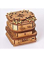 Cluebox – Un Escape Room en una caja de Davy Jones Locker – Puzzle 3D – Juego de pensamiento – Juego de ajedrez – Juego de paciencia – Puzzle de madera 3D – Caja de regalo