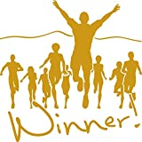 GRAZDesign Wandtattoo Winner Sticker Gewinner Sportler Motivation, Fitness, Fitnessraum...