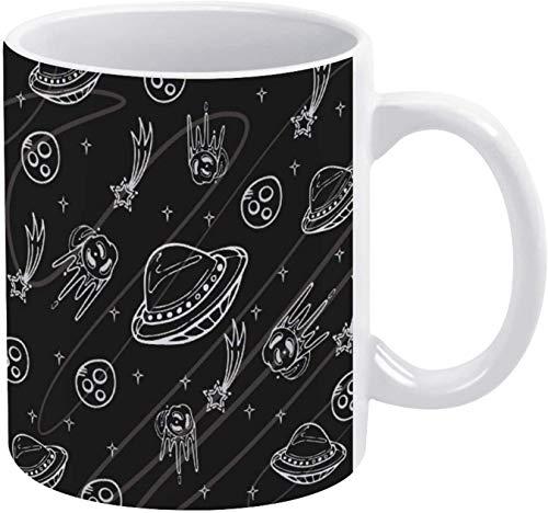 Taza de café Alien OVNI Spaceman Graffiti Holiday Coffee Mug