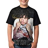Jack Harlow T-Shirt Teenagers Casual Basic Fit Short Sleeve Fashion Summer Tops for Boys and Girls X-Small Black