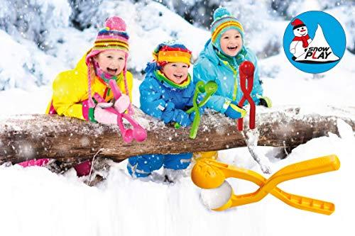 JAMARA 460397 - Snow Play Schneeballzange 38cm - Schneebälle (ca. 7 cm Durchmesser) in Sekunden formen, nie wieder kalte Hände, Schneebälle sind fluffig und nicht so hart wie die handgemachten, grün