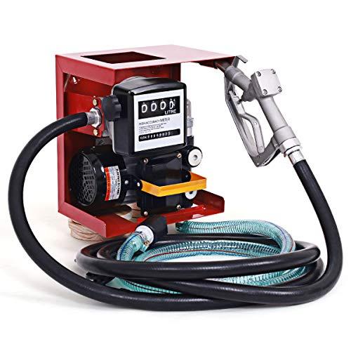 Goplus Electric Diesel Oil Fuel Transfer Pump w/Meter, 13ft Hose & Nozzle, 110V, Not for Gasoline