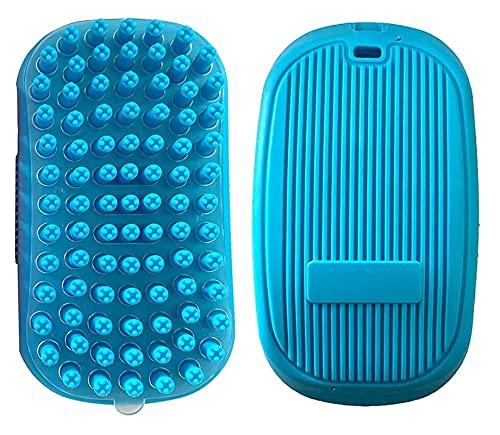 JJZXPJ Limpieza Pincel Mascota Limpieza y Groomingsupplies Gatito/Perro TPE Guante Retire el Pelo Suelto en Forma de Pincel Redondo (Color : Azul)