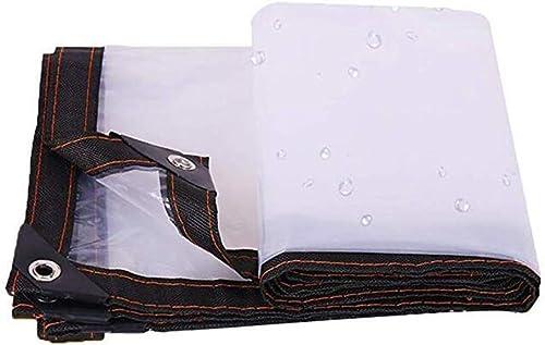 WQQTT-Tarpaulin Tissu imperméable épaissi Bache imperméable Transparente, Tente extérieure de bache de Jardin Tissu imperméable épaissi (Couleur   A, Taille   3x3m)
