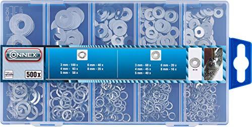 Connex Dp8500056 Flach- und Scheibenwaschanlage Sortimentskasten, 500- teili