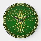 Reloj de pared con diseño de árbol de la vida celta 2. Funciona con pilas, silencioso, con diseño de árbol de la vida