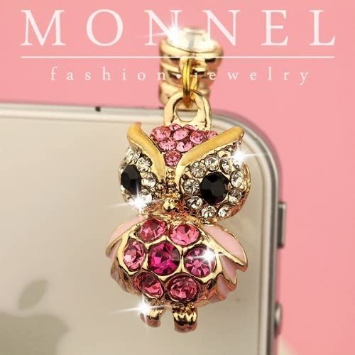 Monnel ip133 Pink Wise Opening large release sale OWL Crystal 4 Ca 3gs Directly managed store Ear 3.5mm Android 4s