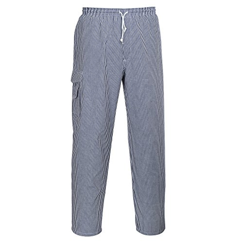 PORTWEST C078CHRXL C078-Chester Chefs Trousers, check, XL
