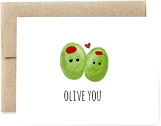 Olive You//Valentines Day Card, Funny Valentines Day Card, Valentines Day, Olive You Card, Olive You Gifts, Punny Card