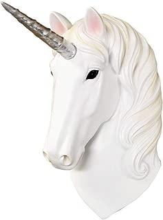 Wall Charmers Mini White + Silver Unicorn Faux Unicorn Head - 8