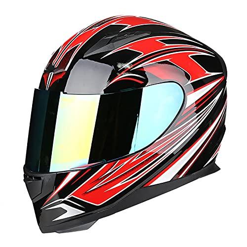 Cascos de Motocicleta, Bluetooth Integrado Casco de Moto Modular con Doble Visera DOT/ECE Homologado a Prueba de Viento para Hombres Mujeres A,L=56~57CM