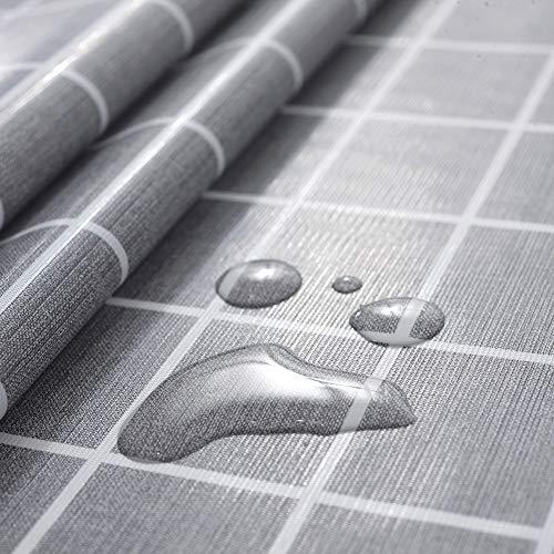 rismart Rústica Más Patrones Impermeable PVC Mantel de Hule Rectangular Prueba de Aceite Mesa Paño,Gris,90_x_140_cm ⭐