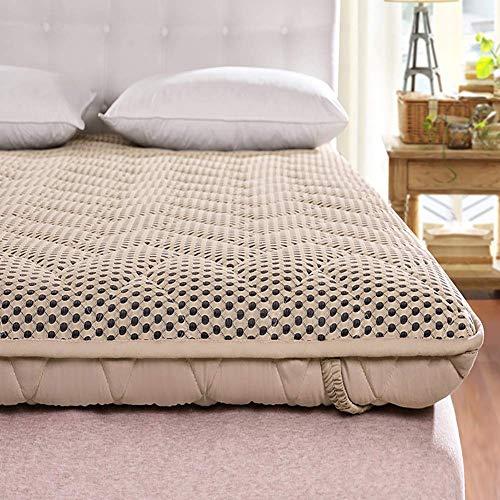 MKXF Colchón Enrollable Plegable de Malla, colchón de futón japonés para el Suelo, colchón para Dormir para huéspedes Que acampan, Adultos
