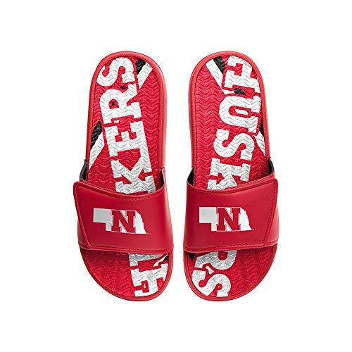 Nebraska Cornhuskers Gel Slides Sandals - X-Large (13-14) - Scarlet