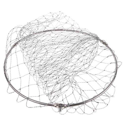 CUTICATE Faltbar Nylon Angeln Kescher Fischernetz Angelnetz Garnelenkescher Teich Fischfangnetz für Meerwasser - c