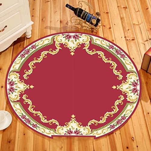 XQAQX Moquettes Tapis et sous-Tapis Tapis Rond Style européen Style européen Enfants Tapis d'escalade Tapis Doux antidérapant (60CM / 80CM / 90CM) Carpets Rugs (Couleur : G, Taille : 60 cm)