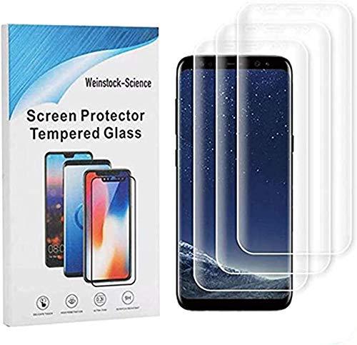Weinstock-Science |3D 3X Schutzfolie für Samsung Galaxy S9 | Schutzfolie, Displayfolie, Folie, Displayschutzfolie (Klar)