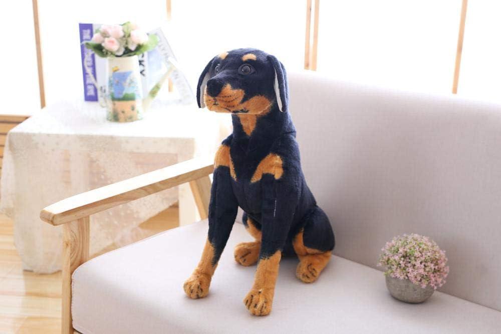 23-66cm Perro de Peluche de Juguete de Peluche Suave Animal Mighty Doggy Almohada niñas niños Presente 23cm Rottweiler