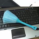 paletur88 Polvere Pennello 2 in 1 Plastica Solido Pulizia Attrezzo Rimozione Polvere Mini Multi-Funzionale Portatile Fisso Spazzatrice Antistatico Universale per Tastiera Computer (Giallo)