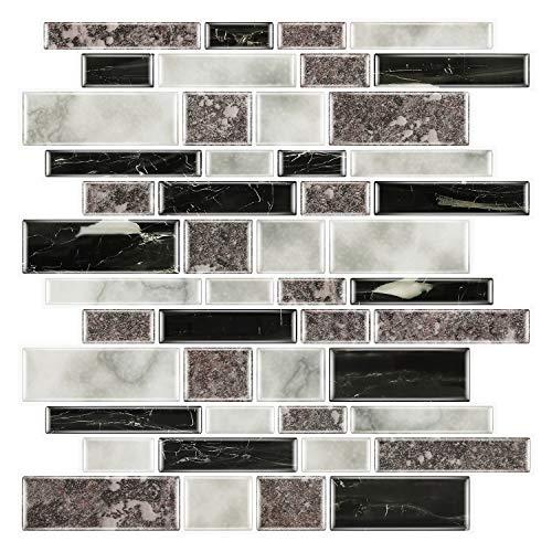 Graz Design - Adhesivo decorativo para pared de cocina o baño (30 x 30 cm, 5 unidades), diseño de azulejos granito