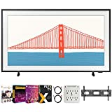 Samsung QN50LS03AA 50 Inch The Frame QLED 4K Smart TV (2021) Bundle with Premiere Movies Streaming 2020 + 37-100 Inch TV Wall Mount + 6-Outlet Surge Adapter + 2X 6FT 4K HDMI 2.0 Cable