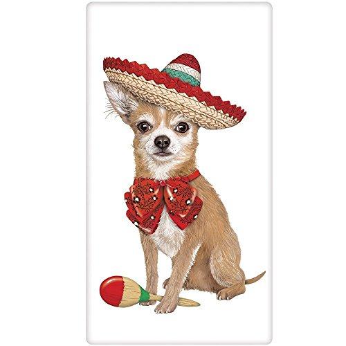 Mary Lake-Thompson Chihuahua Sombrero Cotton Flour Sack Kitchen Towel