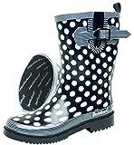 BOCKSTIEGEL® DORIN Damen - Modische Gummistiefel | 36-42 Rubber Boots | Regenstiefel | Polka Dots | Gepunktet, Farbe:Dunkelblau;Größe:39 / UK 5.5
