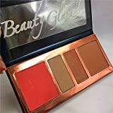 Beauty Glazed Blush Contour and Highlighting Palette Highlighter Powder High Pigmented Contour Peach Love Forever Young