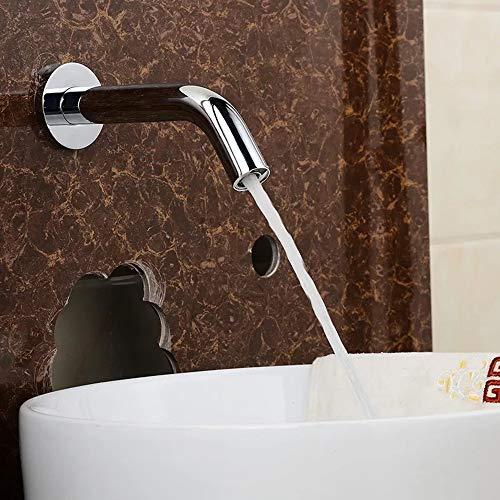 QCSMegy Clásico Cocina Y Baño Cobre Cromo Metal Protección Ambiental Sensor Grifo