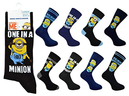 Bonjour Herren Socken Einheitsgröße Gr. Einheitsgröße, Minion ( 6 - 11 )