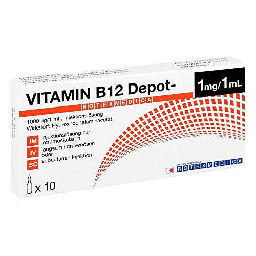 Vitamin B12 Depot-Rotexmedica 1 mg / 1 ml Ampullen, 10 St. Ampullen