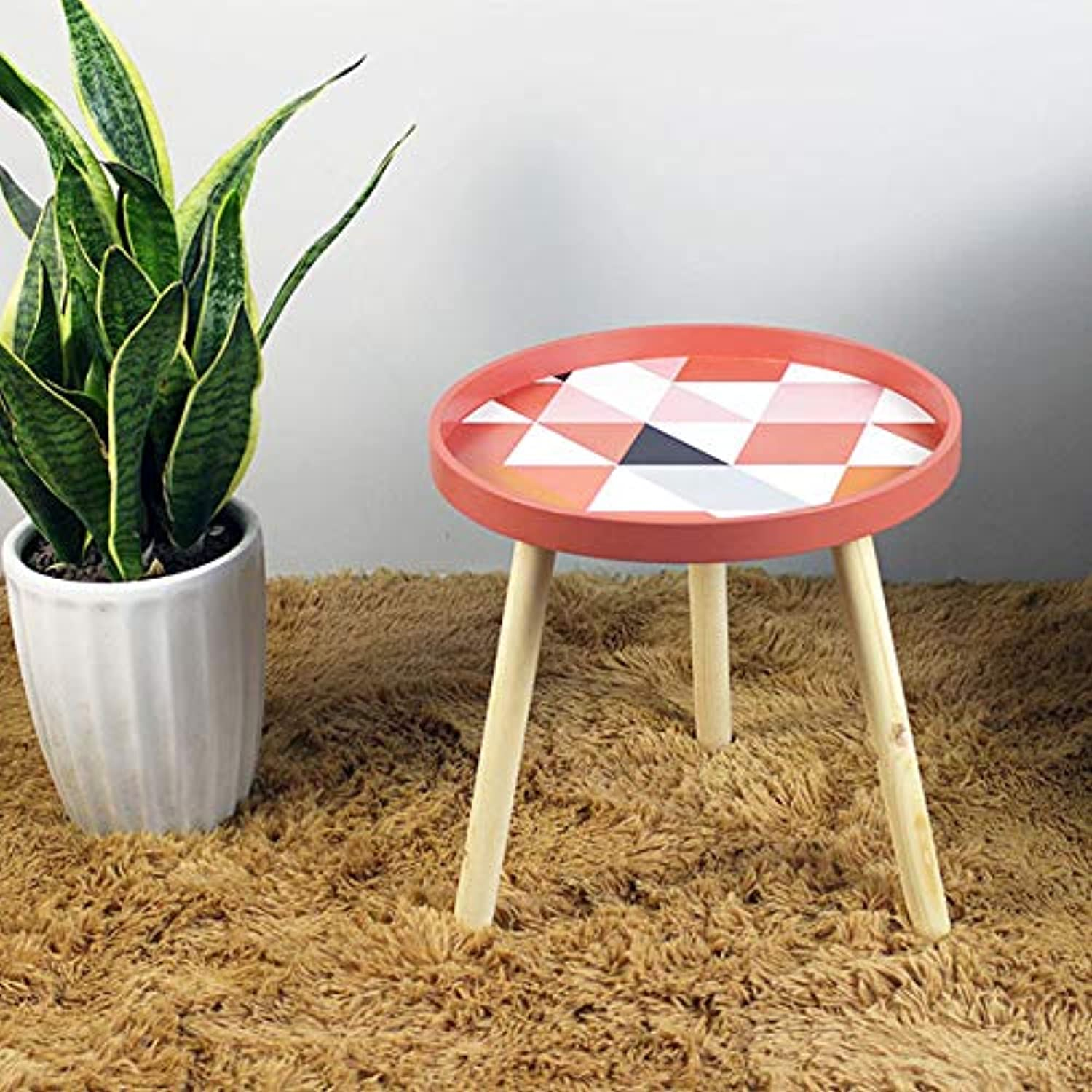 Nordic Small Fresh Mini Coffee Tables Creative Wood Low Table Round Tables Living Room Furniture Home Furniture Home Decorations,B