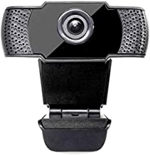 HD 1080P Webcam with Microphone and Auto Light Correction, Noise Reduction, Multi-Compatible Clip, PC Mac Desktop Computer Desktop USB Web Camera for Video Streaming YouTube Skype Facetime Hangouts