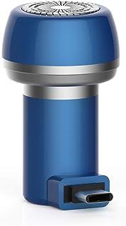 CoolTack ?電気充電式シェーバー、2に付き1磁気電気シェーバーミニポータブルType-C USB防水耐久性剃刀
